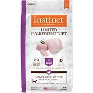 Instinct by Nature's Variety Limited Ingredient Diet Grain-Free Recipe with Real Rabbit Dry Cat Food, 4.5-lb bag
