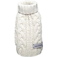 Max-Bone White Knit Premium Dog Sweater, X-Large