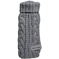 Max-Bone Grey Knit Premium Dog Sweater, Small