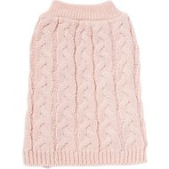 Frisco Ultra-Soft Cable Knitted Dog Sweater, Small, Pale Pink