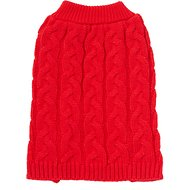 Frisco Ultra-Soft Cable Knitted Dog Sweater, Small, Red