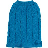 Frisco Ultra-Soft Cable Knitted Dog Sweater, Small, Dark Teal
