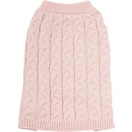 Frisco Ultra-Soft Cable Knitted Dog Sweater, Medium, Pale Pink