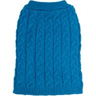 Frisco Ultra-Soft Cable Knitted Dog Sweater, Medium, Dark Teal