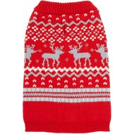 Frisco Fair Isle Dog Sweater, Small, Red