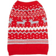 Frisco Fair Isle Dog Sweater, Medium, Red