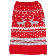 Frisco Fair Isle Dog Sweater, Large, Red