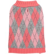 Frisco Argyle Dog Sweater, Small, Pink