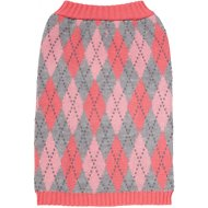 Frisco Argyle Dog Sweater, Large, Pink