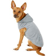 Frisco Basic Dog Hoodie, Small, Heather Gray