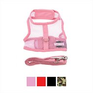Doggie Design Cool Mesh Netted Dog Harness with Matching Leash, Pink, Small