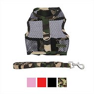 Doggie Design Cool Mesh Netted Dog Harness with Matching Leash, Camouflage, Large