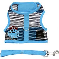 Doggie Design Cool Mesh Netted Under the Sea Pirate Octopus Dog Harness, X-Small