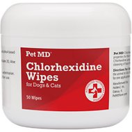 Pet MD Chlorhexidine Antiseptic Dog & Cat Wipes, 50 count