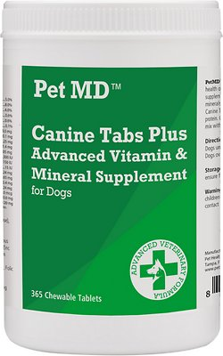6. Pet MD Canine Tabs Plus Advanced Dog Supplement