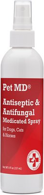 Pet MD Antiseptic & Antifungal Medicated Dog, Cat & Horse Spray, 8-oz bottle