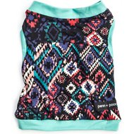 penn + pooch The Drew Dog Tank Top, Medium, Indie Teal