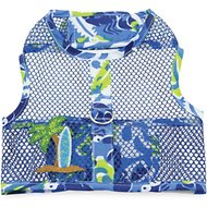 Doggie Design Cool Mesh Netted Aloha Surfboard Dog Harness with Matching Leash, X-Small