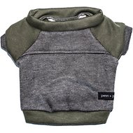 penn + pooch The Kellan Dog Crewneck, Olive, Large