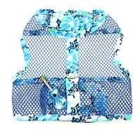 Doggie Design Cool Mesh Netted Aloha Ukulele Dog Harness with Matching Leash, X-Small