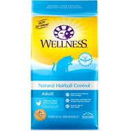 Wellness Natural Hairball Control Chicken Meal & Rice Recipe Dry Cat Food, 6-lb bag