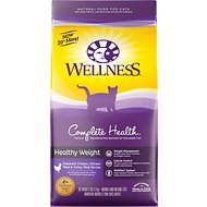 Wellness Complete Health Healthy Weight Deboned Chicken, Chicken Meal & Turkey Meal Recipe Dry Cat Food, 6-lb bag