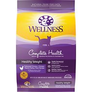 Wellness Complete Health Healthy Weight Deboned Chicken, Chicken Meal & Whitefish Meal Recipe Dry Cat Food, 12-lb bag