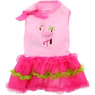 Doggie Design Flamingo and Palm Tree Dog Dress, Medium