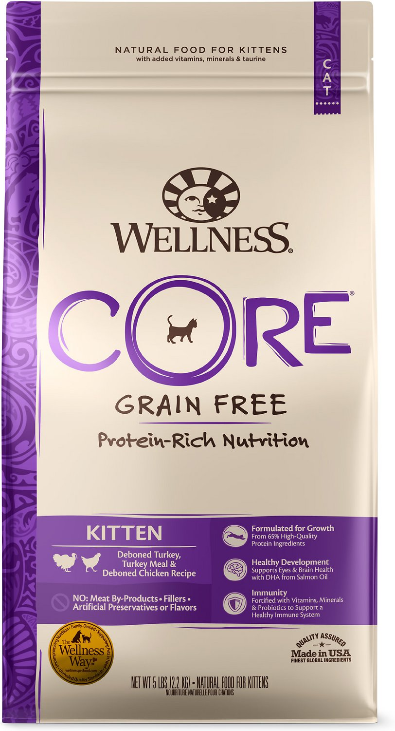 Wellness Core Grain Free Kitten Formula Dry Cat Food 5 Lb