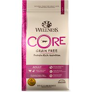 Wellness CORE Grain-Free Turkey, Turkey Meal & Duck Formula Dry Cat Food, 5-lb bag