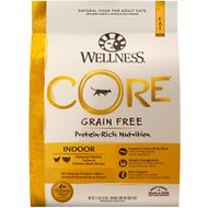 Wellness CORE Grain-Free Chicken, Turkey & Chicken Meal Indoor Formula Dry Cat Food, 11-lb bag