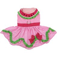 Doggie Design Watermelon Dog Dress with Matching Leash, X-Small