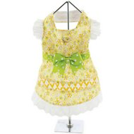 Doggie Design Floral and Lace Dog Dress with Matching Leash, X-Small