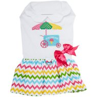 Doggie Design Ice Cream Cart Dog Dress with Matching Leash, X-Small
