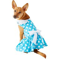 Doggie Design Blue Polka Dot Dog Dress with Matching Leash, Large