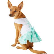 Doggie Design Turquoise Crystal Dog Dress with Matching Leash, Small
