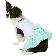 Doggie Design Turquoise Crystal Dog Dress with Matching Leash, Large