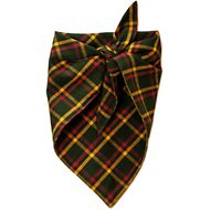 penn + pooch The Henry Plaid Dog Handkerchief, Green, Medium