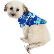 Doggie Design Hawaiian Palms Dog & Cat Camp Shirt, XX-Small