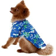 Doggie Design Hawaiian Palms Dog & Cat Camp Shirt, Medium