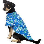 Doggie Design Hawaiian Palms Dog & Cat Camp Shirt, X-Large