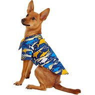 Doggie Design Hawaiian Island Shark Dog & Cat Camp Shirt, Small
