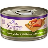 Wellness CORE Signature Selects Chunky Boneless Chicken & Wild Salmon Entree in Sauce Grain-Free Canned Cat Food