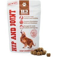 H3 Essentials Hip and Joint Soft Chew Dog Supplement, 6-oz bag