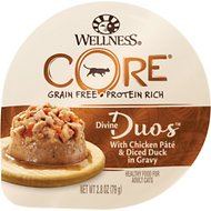 Wellness CORE Divine Duos Chicken Pate & Diced Duck in Gravy Grain-Free Wet Cat Food, 2.8-oz, case of 12