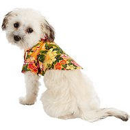 Doggie Design Hawaiian Sunset Hibiscus Dog & Cat Camp Shirt, XX-Small