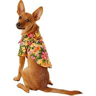 Doggie Design Hawaiian Sunset Hibiscus Dog & Cat Camp Shirt, X-Small