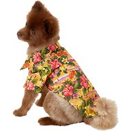 Doggie Design Hawaiian Sunset Hibiscus Dog & Cat Camp Shirt, Medium