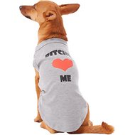 Mirage Pet Products Bitches Love Me Dog Shirt, Medium, Grey