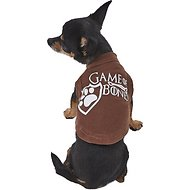 Mirage Pet Products Game of Bones Dog & Cat Shirt, Brown, X-Small